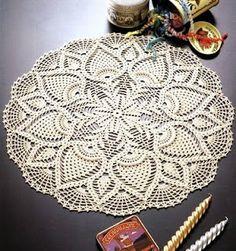 Six free crocheted doily patterns.
