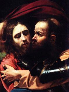 Caravaggio: La traición de Judas, 1602.
