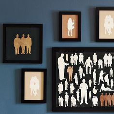 silhouette variations: mike miller for west elm Paper Art, Paper Crafts, Diy Crafts, Of Wallpaper, West Elm, Art Projects, Project Ideas, Sewing Projects, Gallery Wall