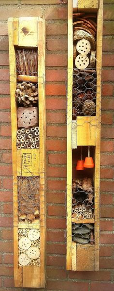 Pallet bug hotel for those who don't have much space but have a spare wall