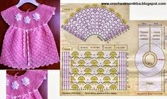 Crochet y dos agujas: Vestido de niña tejido al crochet