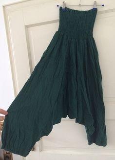 Kaufe meinen Artikel bei #Kleiderkreisel http://www.kleiderkreisel.de/damenmode/haremshosen/123522148-haremshose-pumphose-aladdinhose-stoffhose-dunkelgrun-grun-baumwolle-hippie-goa