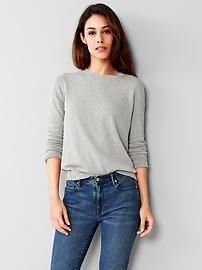 Slub crew sweater