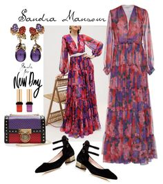 A fashion look from December 2017 featuring long dresses, floral print maxi dress and black mary janes. Browse and shop related looks. I Love Fashion, Spring Fashion, Fashion Show, Fashion Looks, Womens Fashion, Polyvore Outfits Casual, Striped Maxi Dresses, Ready To Wear, Summer Outfits