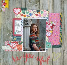 """Here is a layout I created for the Mixed Media and Art challenge for March and it is titled """"Dreamer"""". I used almost all Blue Fern Studios products. Please check my blog post for details: http://mixedmediamemories.blogspot.com/2018/03/blue-fern-studios-dreamer-layout.html"""