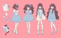 Kawaii Art, Kawaii Anime Girl, Anime Art Girl, Kawaii Drawings, Cute Drawings, Mery Chrismas, Drawing Anime Clothes, Cute Art Styles, Fashion Design Drawings