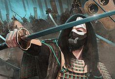 Samurai Weapons, Samurai Art, Medieval, Character Art, Character Design, Japanese Warrior, L5r, Illustrations, Geisha