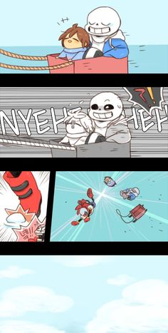 sans, papyrus and frisk - comic 2/3