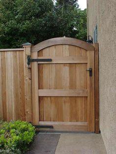 Garden Door Photos - Berco Redwood Backyard Gates, Garden Gates And Fencing, Backyard Patio Designs, Garden Doors, Fence Gates, Fence Doors, Wooden Gate Door, Wooden Side Gates, Wooden Garden Gate