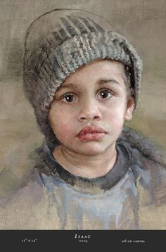 """""""Isaac"""" --by Molly Williams , 11 x 14, oil on canvas --- this is practically perfect! So beautiful...."""