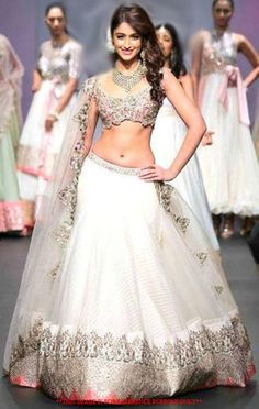 Perfect lehenga is disgnier white colour