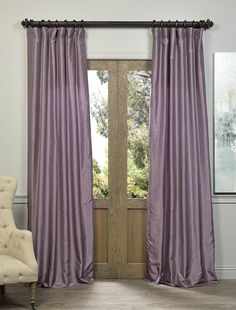 "Smokey Plum Vintage Textured Faux Dupioni Silk Curtain - SKU: PDCH-KBS11 at https://halfpricedrapes.com. Starts at $64 per panel. 50"" x 84, 96, 108 & 120"""