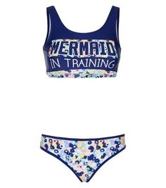 - 1 bikini top and 1 pair of bikini bottoms included- Floral 'Mermaid In…