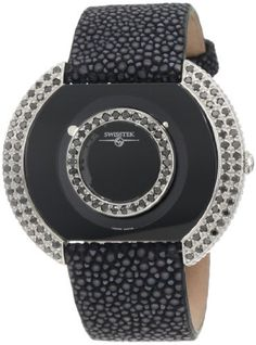 "Best Watches 9: Swisstek SK47804L Limited Edition Swiss Black Diamonds Watch With Blue Sapphire Set Crown, Genuine Stingray ""Galuchat"" Strap And Sapphire Crystal ~ Gadget Watch 101 http://gadgetwatch101.blogspot.com/2013/02/best-watches-9-swisstek-sk47804l.html"