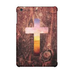 Sunset wood cross