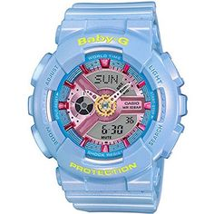 Women's Wrist Watches - Casio Womens BA110CA2A BabyG AnalogDigital Quartz Light Blue Watch *** Check this awesome product by going to the link at the image. (This is an Amazon affiliate link)