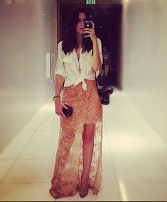 Camila Coutinho com saia linda Pat Bo