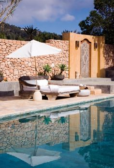 An oasis in Ibiza Outdoor Life, Outdoor Dining, Outdoor Spaces, Outdoor Gardens, Outdoor Decor, Oasis, Beautiful Homes, Beautiful Places, Zen House