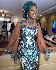 Latest New 2019 Asoebi Lace Styles – Hairstyles Diyanu - Aso Ebi Styles African Wedding Dress, African Fashion Ankara, Latest African Fashion Dresses, African Inspired Fashion, African Dresses For Women, African Print Dresses, African Print Fashion, Africa Fashion, African Attire