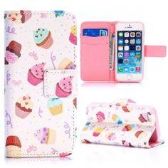 iPhone 5, 5s Cupcake flip case cover hoesje