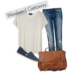 I would wear something like this - it's quick, effortless, easy, comfy, and cute! Pair it with a great, messy/summer hair style and you're good to go! Doesn't get better than jeans and a t-shirt!