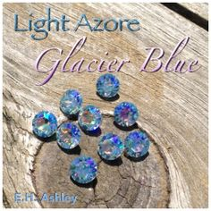 "E.H. Ashley's custom coating ""Glacier Blue"" applied to SWAROVSKI ELEMENTS ""Lt. Azore"" as seen on 1088 39ss  www.ehashley.com #glacierblue #chaton #1088 #customcoating"