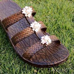 8f5dde5fb62 Always designed in Hawaii at Lavahut! Brown Jaya Pearl Jandals® - Pali  Hawaii