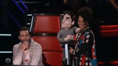 Masters of Puppets: The Voice Blind Auditions Conclude With Strings Attached  The Voice Season 12s Blind Auditions concluded Tuesday and while there were a few worthy additions to all four coaches teams there was one new cast member who sadly was not eligible not even for even a one-chair turn: an Adam Levine puppet which inexplicably and without warning ended up on Alicia Keyss hand. True this snaggle-toothed puppet looked absolutely nothing like the actual Adam Levine not even back in his…
