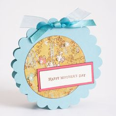 Scalloped-Circle Mother's Day Card