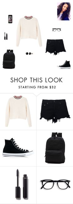 """you should be here"" by synclairel ❤ liked on Polyvore featuring MANGO, rag & bone, Converse, Vans, Chanel and Belk & Co."