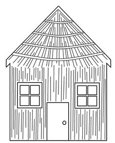 Coloring Sheet Tree House Luxury Coloring Pages the Three Little Pigs Houses Straw Three House Colouring Pages, Bird Coloring Pages, Cartoon Coloring Pages, Printable Coloring Pages, Coloring Sheets, Coloring Books, Three Little Pigs Houses, Three Little Pigs Story, Captain America Coloring Pages