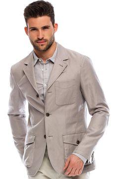 Armani Exchange Linen Pocket Blazer.  NICE jacket and shirt......  MoreSuitsAndTies.com