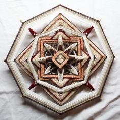 Large Natural Colours Mandala God's Eye by PsyMagic on Etsy, €60.00