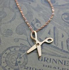Little Scissors Charm Necklace
