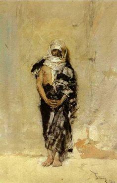 El marroquí (1869), Mariano Fortuny.  watercolour. Statue, Painting, Art, Kunst, Sculpture, Gcse Art, Sanat