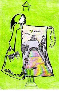 Город на плаще Лучший художник декабря 2010 Алёнка Фоминых  Ссылка на оргинальный рисунок: http://vkontakte.ru/photo-3840_199516491