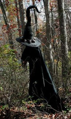 Witch in the woods. Halloween