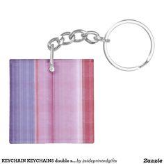 KEYCHAIN KEYCHAINS double sided ADD text photo DIY #zazzle #custom #keychains