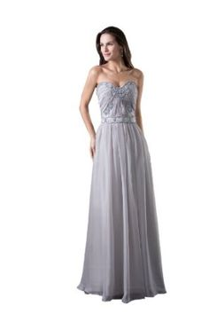 OnlyUsWedding Women's Off-shoulder Silk Taffeta Long Wedding Dress Prom Gown WD4 Grey
