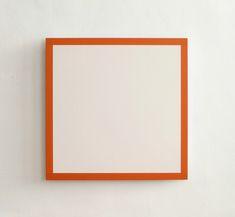 A Winston Roeth artwork inspires a jazzy orange framed mirror you can d-i-y.