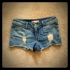 Jean shorts Wore 1 time. They are are just a little too small for me. Forever 21 Shorts Jean Shorts