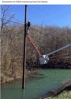 Lineman doing his best after Hurricane Florence Electrician Humor, Safety Fail, Darwin Awards, Funny Memes, Jokes, You Had One Job, Workplace Safety, Safety First, Morning Humor