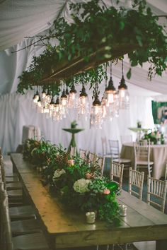 Decoración suspendida - Tendencia de boda 2016