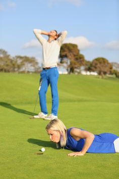 GOLF THEMED Engagement photo by Cary Pennington (San Diego) at Torrey Pines Golf…