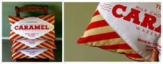Caramel Wafer cushions by Nikki McWilliams