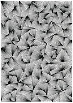 Ink on paper, 21 x 30 cmBlack and white pattern drawings based on repetition, ink on paperUntitled by Ellen van de Sande / want it on a WHIM.A portfolio which shows my mindless drawings, doodles and patternsMy absent mind Doodle Art Drawing, Zentangle Drawings, Doodles Zentangles, Art Drawings Sketches, Easy Drawings, Drawing Tips, Drawings On Lined Paper, Illusion Kunst, Illusion Art