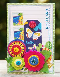 Fun use of the brand new Margarita Line by American Crafts! House Of Cards, American Crafts, Margarita, Cardmaking, Creative, Projects, Blog, Fun, Scrapbooking