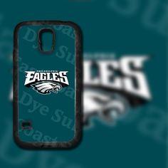 Philadelphia Eagles Design on Samsung Galaxy S5 Black Rubber Silicone Case by EastCoastDyeSub on Etsy https://www.etsy.com/listing/196343888/philadelphia-eagles-design-on-samsung