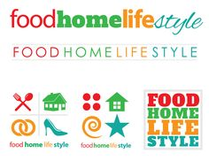 Logo ideas for the FoodHomeLifeStyle Internet television network.