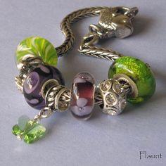 Pandora Trollbead sterling silver charm peridot Swarovski crystal butterfly  by Flaunt Designs Jewelry, via Flickr